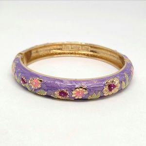 Jiu Long Xing purple enamel bangle
